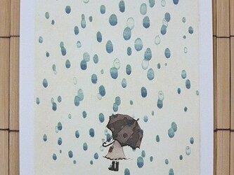 ポストカード It's raining 2枚入りの画像