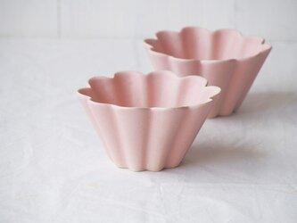 マカロンピンク・花カップ-L-の画像