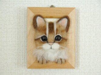 O様オーダー再出品【癒し子猫フレーム茶】の画像