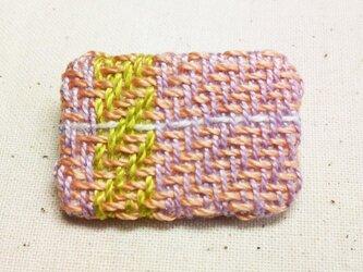 「ミニミニ1」手織り布 ブローチの画像