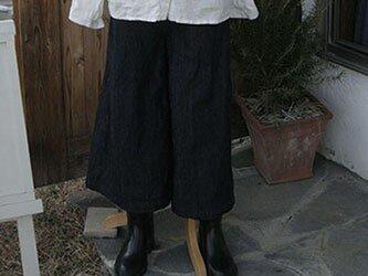 リネンデニムガウチョパンツの画像