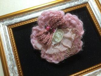 ヘアピンブローチ(お花とビーズ)〜シエルライン〜の画像