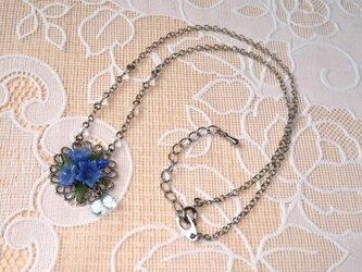 リンドウのネックレス(オーダー品)の画像