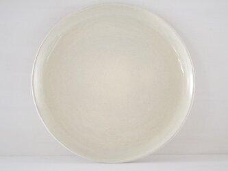 9寸皿・平・ベージュの画像