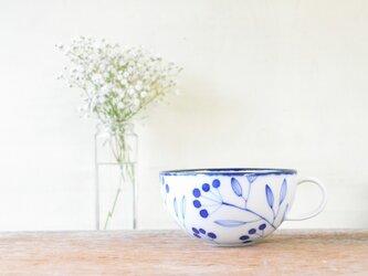 青い小枝のシリーズ 片手スープカップの画像