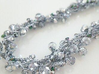 ●sold out●シルバー系カットガラスネックレスの画像