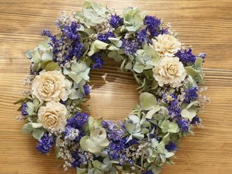 blue wreathの画像