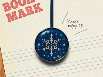「星屑と雪の結晶のクリップ型ブックマーク」No.209の画像