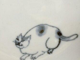 染付4寸猫皿 26の画像