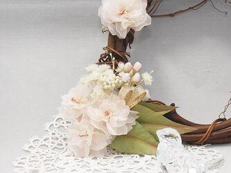 八重桜のコサージュ&ブローチ~Innocence ~の画像