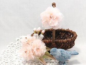 八重桜のコサージュ&ブローチ~spiritual beauty~の画像