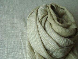 <手織り>ストール*ナチュラルカラーの画像