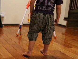 着物リメイク♪ 子供サルエルパンツ(90サイズ )の画像