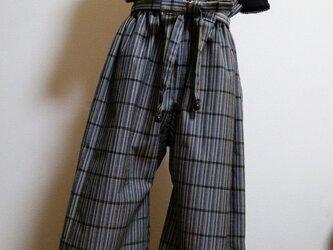 着物リメイク♪ 大人ロングズボンフリーサイズの画像