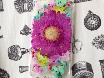 iPhone6 押し花ケースの画像