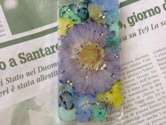 iPhone5 押し花ケースの画像