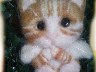 ねこ天使ブローチの画像
