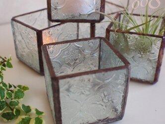 アンティーク調ステンドグラスキャンドルホルダーの画像