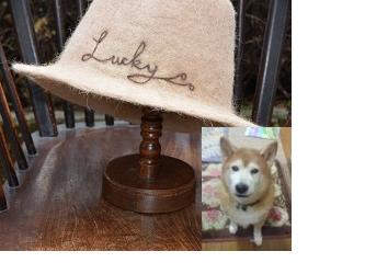 犬毛帽子フルオーダーの画像