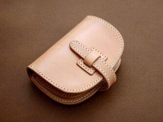 本革サドルレザーの折財布(ハーフ)【受注製作】の画像