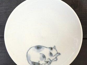 染付4寸猫皿 28の画像
