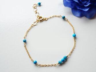 ターコイズ ブレスレット Turquoise bracelet B0031の画像