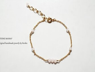 ♡Stone bracelet♡ローズクォーツ♡の画像
