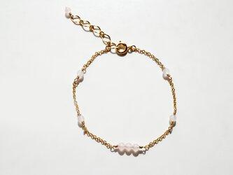 ローズクォーツ ブレスレット Rose Quartz bracelet B0030の画像