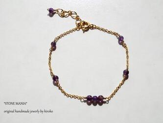 ♡Stone bracelet♡アメジスト♡の画像