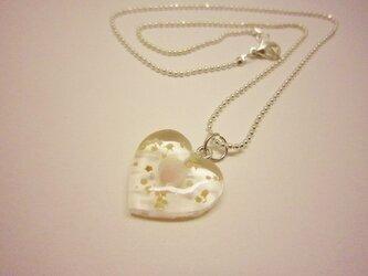 星の砂 Heart ネックレスの画像