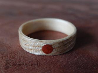 木の指輪~タモ&ヒノキ×ジャスパー~の画像