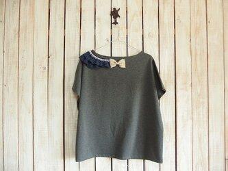 コラージュTシャツ/チャコール Cの画像