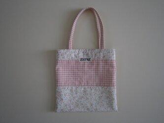 ピンクのペタンコバッグ♪の画像