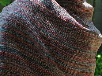 シルク手織ストールQの画像