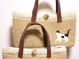 蘭子様オーダーページ 愛猫♥ハンドバッグ 2個セットの画像