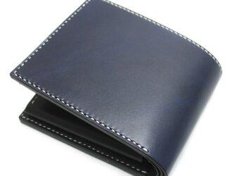 ボタンポケットボタンポケットの2つ折り財布(カラー:Blue)の画像