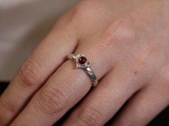 指輪 レディース : 岩石ハートツイストリング 石付 4~27号の画像