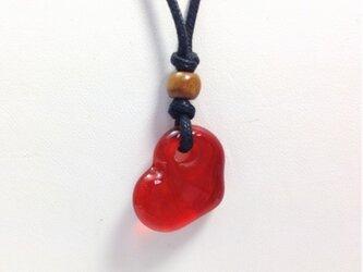 ハートのネックレス ~ 赤 ~の画像
