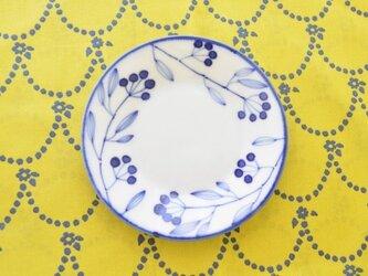 青い小枝のシリーズ 12.5センチのお皿の画像