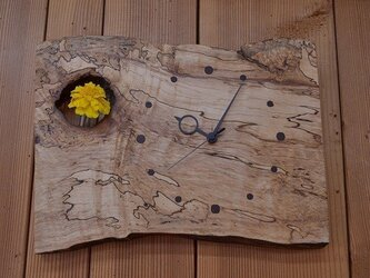 かけ時計(バーズアイメイプル)の画像