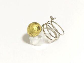 SV螺旋純金箔張りとんぼ玉リング ⑥の画像