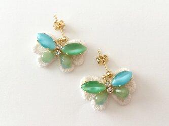"""bijoux butterfly """"blue&green""""の画像"""