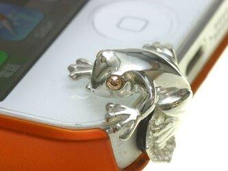 iPhone5 専用カエルのイヤホンジャック アクセサリーの画像