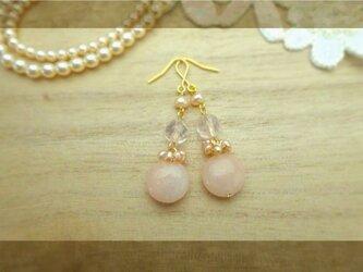 再販◆ピンクアベンチュリンa pierce・earingの画像