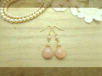 再販◆ピンクアベンチュリンb pierce・earingの画像