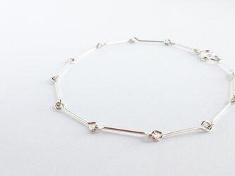 シルバーブレスレット-silver lineの画像
