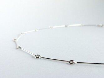 ネックレス-silver lineの画像
