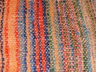 ホームスパン手織りマフラーの画像