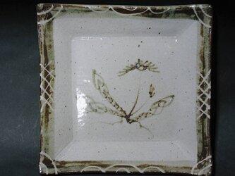 正方形陶板(たんぽぽ)の画像
