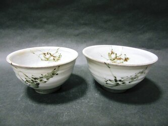 粉引夫婦飯碗(海老)の画像